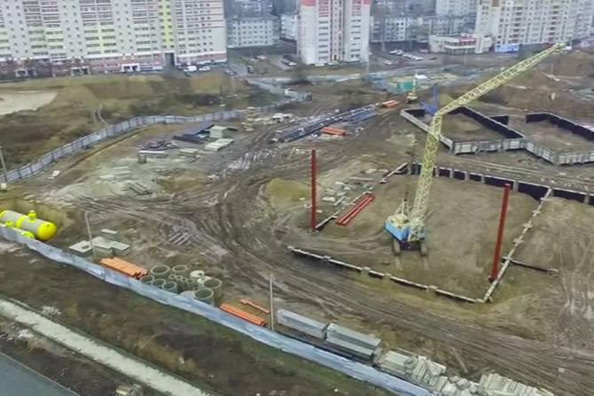 В Брянске показали строительство новых дорог с высоты птичьего полета
