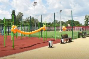 На брянском машзаводе открыли спортивную площадку
