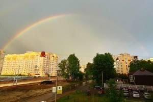В Брянске жители сфотографировали двойную радугу