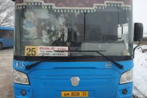 В Брянске выбрали лучший новогодний автобус
