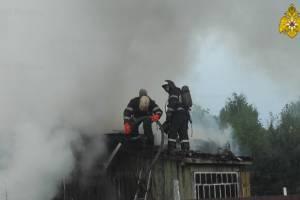 В Брянске в горящем доме на Ходаринке пострадал человек