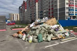 В Брянске выросла свалка возле дома №8 на улице Войстроченко