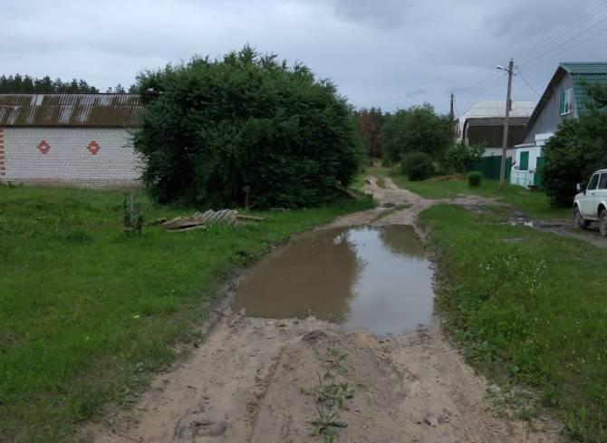 В Новозыбкове жители Строителей измучились от бездорожья
