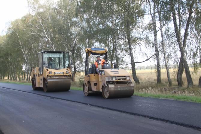 На Брянщине завершается ремонт дороги Стародуб-Климово