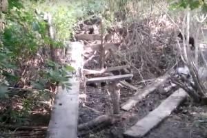 В Жуковском районе обрушился ветхий мост