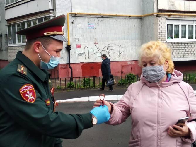 Брянские росгвардейцы подключились ко всероссийской акции «Георгиевская лента»