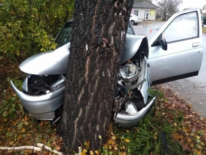 В Карачеве пьяный 50-летний водитель ВАЗ протаранил дерево