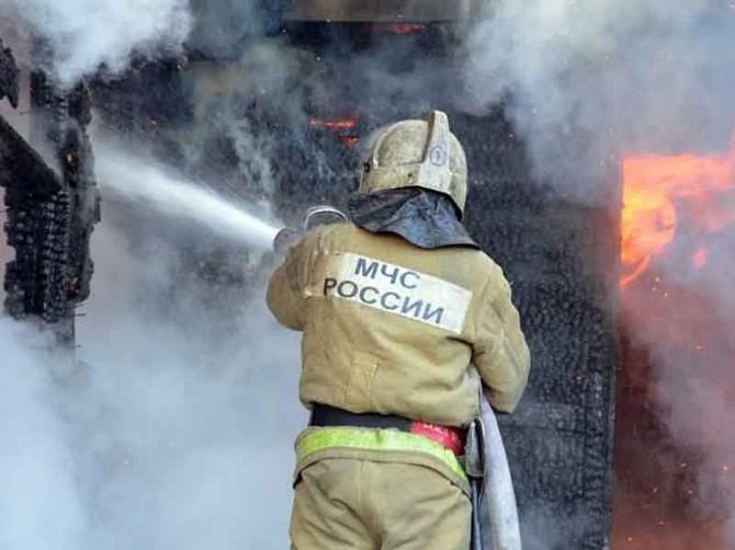 В Унечском районе случился пожар