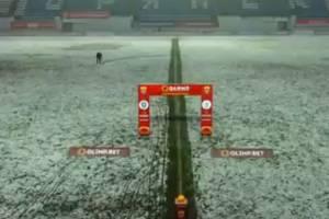Матч брянского «Динамо» с «Томью» задержали из-за снегопада