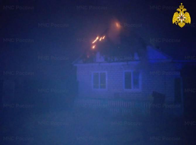 Под Новозыбковом сгорел частный дом
