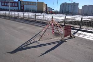 Возле школы №71 в Брянске провалился асфальт