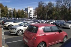 В Брянске автомобилисты захватили Круглый сквер