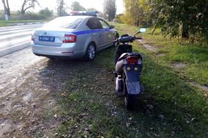 Под Новозыбковом поймали 30-летнего мопедиста без прав