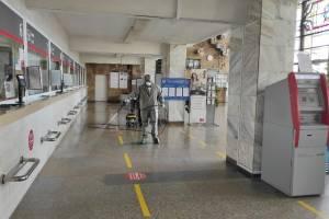 На вокзале «Брянск-I» провели комплексную дезинфекцию