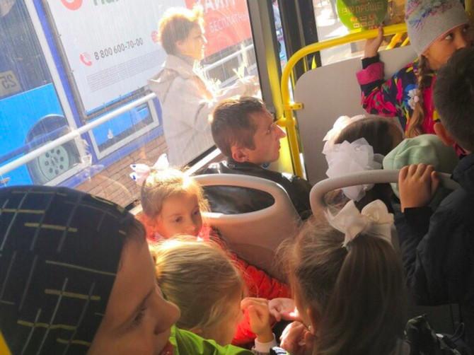 В Брянске пассажирка автобуса подняла вой из-за сидящего мужчины