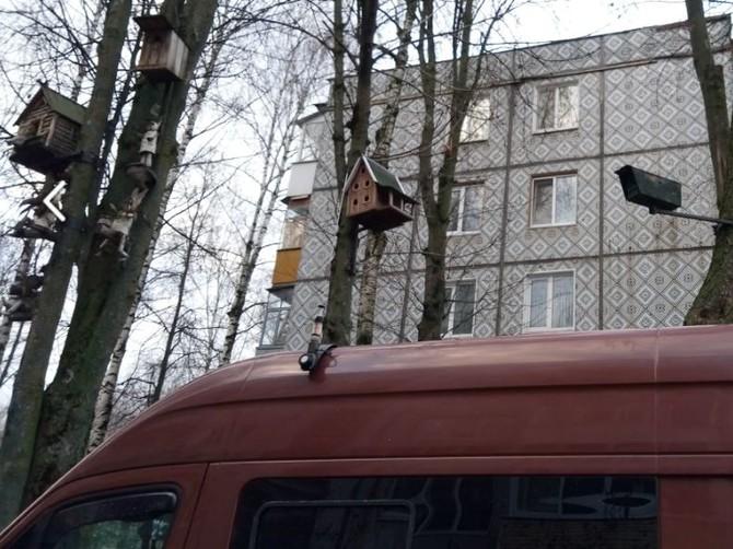 В Брянске скворечник превратили в камеру наблюдения