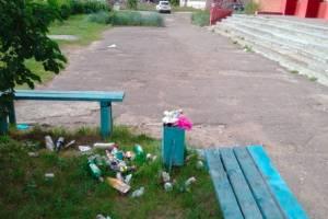В Брянске погрязла в мусоре улица Никитина