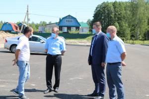 В Володарском районе мэр Брянска проинспектировал ремонт дорог