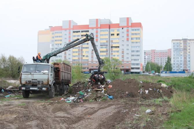 В брянском поселке Чайковичи приступили к ликвидации огромной свалки