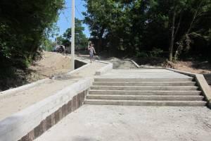 В Брянске новую лестницу на Бежицком пляже оборудуют пандусом
