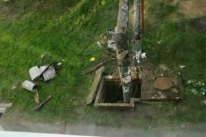 В Новозыбкове коммунальщики при ремонте труб устроили мусорный хаос