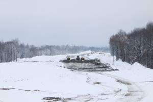 В Брянске на праздники продолжилось строительство дороги от Metro к вокзалу