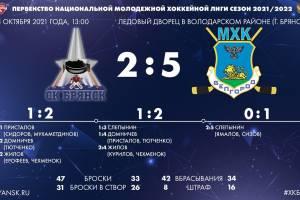Брянские хоккеисты на своем льду второй раз подряд проиграли белгородцам