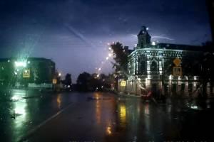 В Новозыбкове удар молнии вывел из строя электроприборы