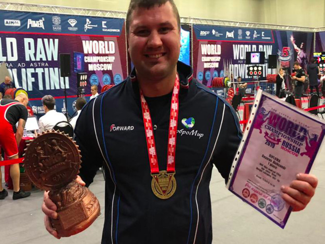 Брянский силач Бояров стал призером чемпионата мира