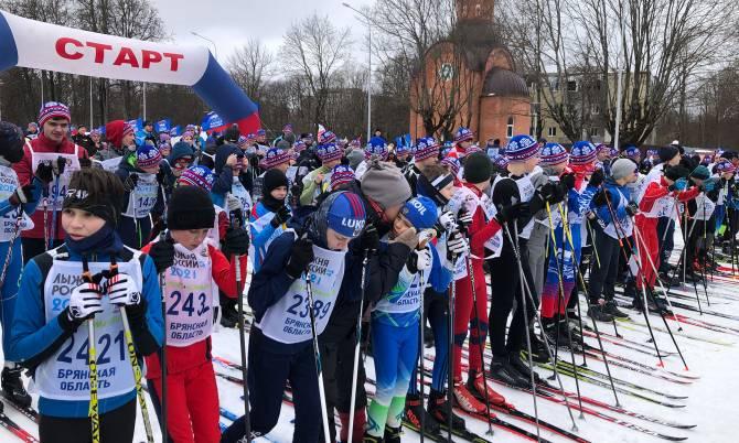 В Брянске на «Лыжню России» вышли более 2 тысяч человек