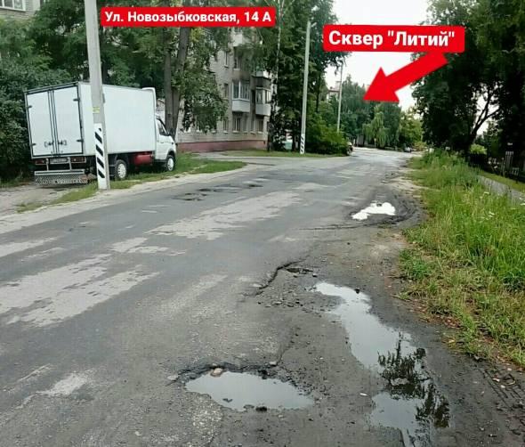 В Брянске жители улицы Новозыбковской требуют новую дорогу