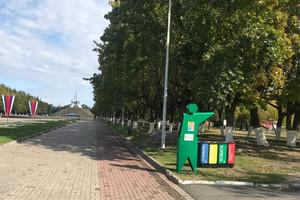 В Брянске на Кургане «поселили» зеленого человечка