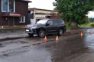 В Брянске на бульваре Щорса пенсионер на велосипеде протаранил Lexus