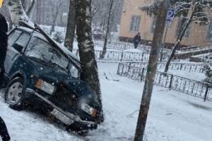 В Трубчевске водитель ВАЗ протаранил дерево