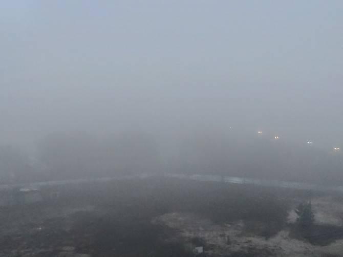 Днём Брянск окутал сильный туман