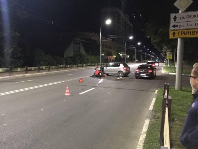 В Брянске разыскивают свидетелей столкновения легковушки с мотоциклом