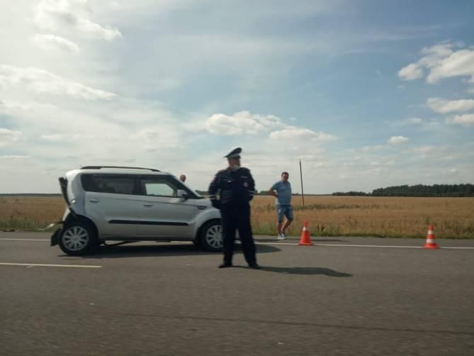 В массовой аварии под Клинцами пострадали два человека