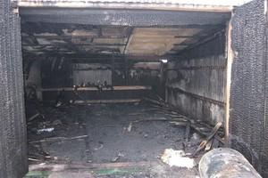 В поселке Свень под Брянском сгорел гараж