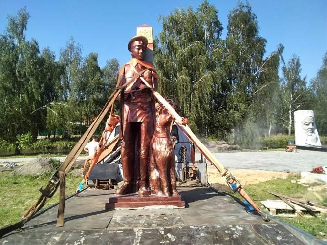 В Новозыбкове парень украл стройматериалы при установке памятника пограничникам