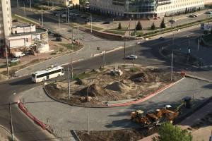 В Брянске продолжается строительство двух кольцевых развязок на Советской