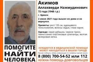 В Брянске без вести пропал 72-летний Аллахверди Акимов