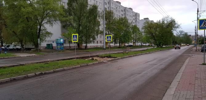Жители Брянска пожаловались на ликвидацию удобных зебр на улице 22СъездаКПСС