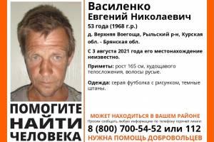 Брянцев попросили помочь в поисках 53-летнего пропавшего из Курской области