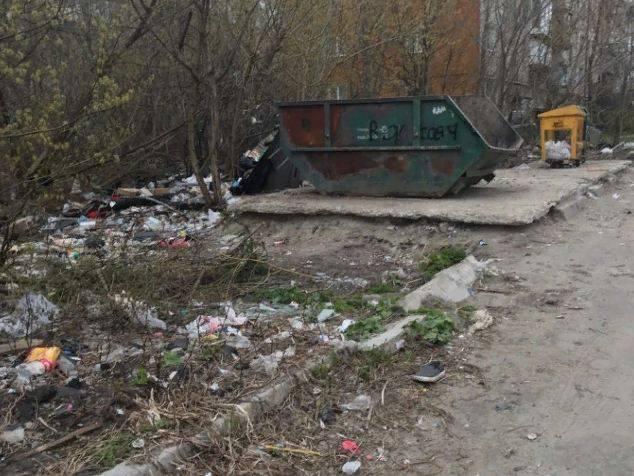 В Брянске горы мусора перекрыли путь к детсаду «Родничок»