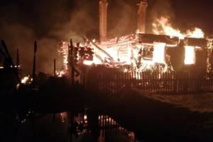 Крупный пожар в Дятьковском районе тушили полтора часа