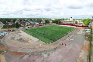 В Брянске на стадионе «Спартак» началась укладка газона