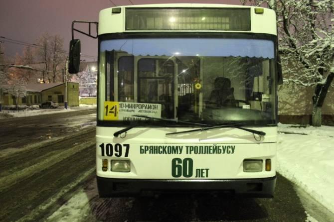 В Брянске 4 декабря пройдет Парад троллейбусов