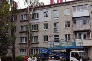 В Брянске на улице Ново-Советской береза прилегла на четырехэтажку