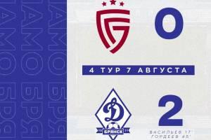 Брянское «Динамо» уверенно обыграло в Белгороде «Салют»