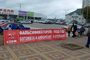 В Брянске устроили пикеты против фальсификаций на выборах в Госдуму